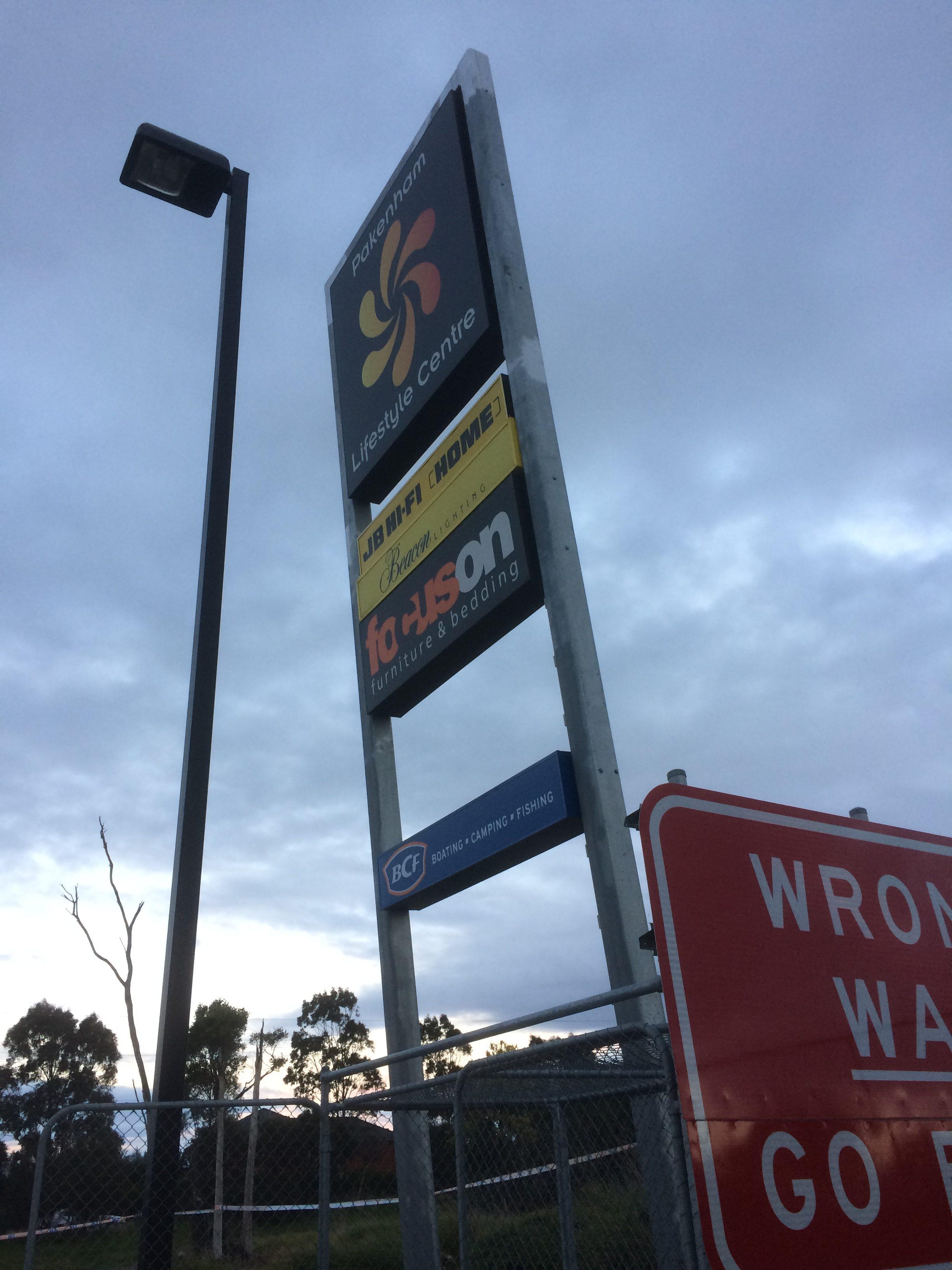 Repair job Berwick commercial signage