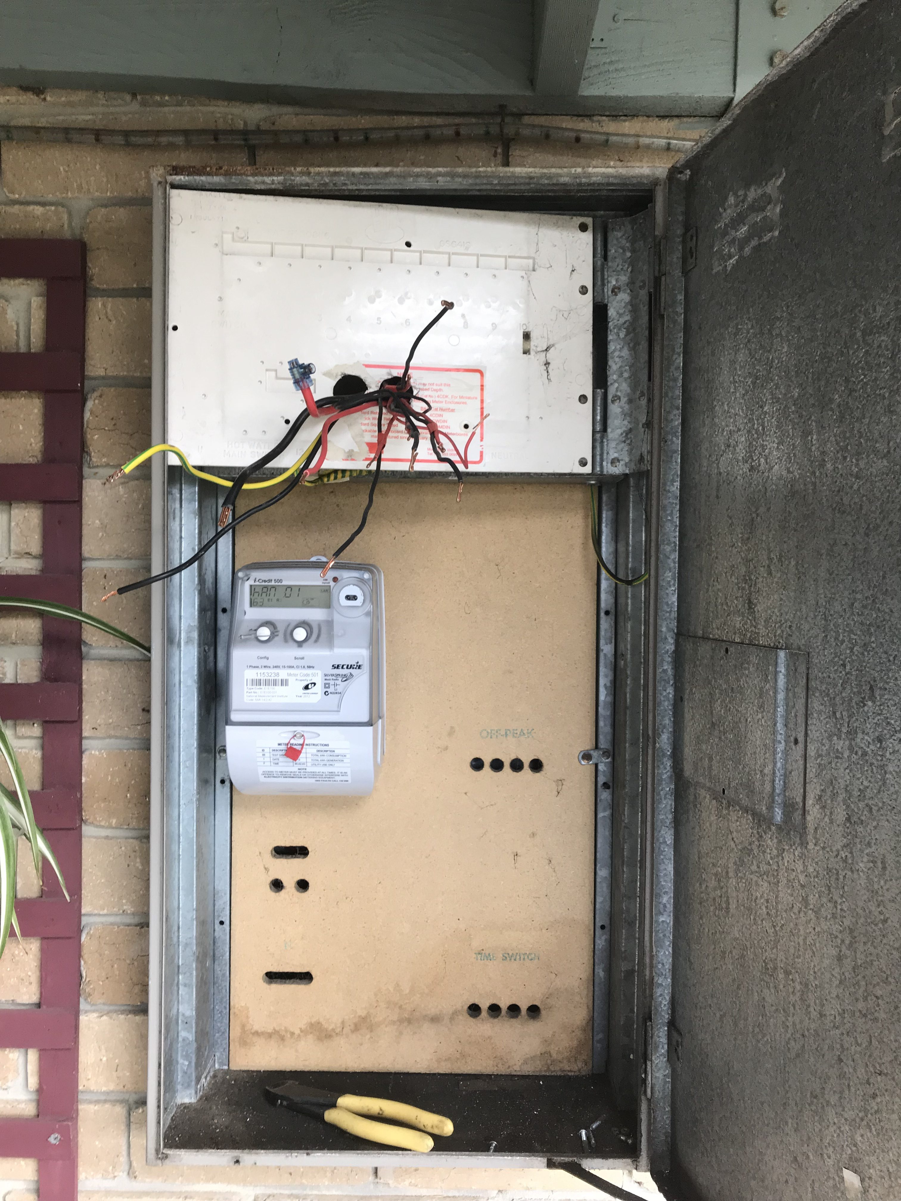 Electrician Replacing Upgrading Meter Panel
